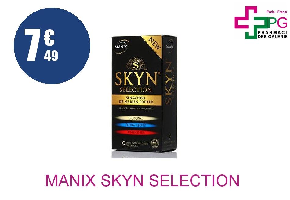 Achetez MANIX SKYN SELECTION Préservatif Boîte de 9