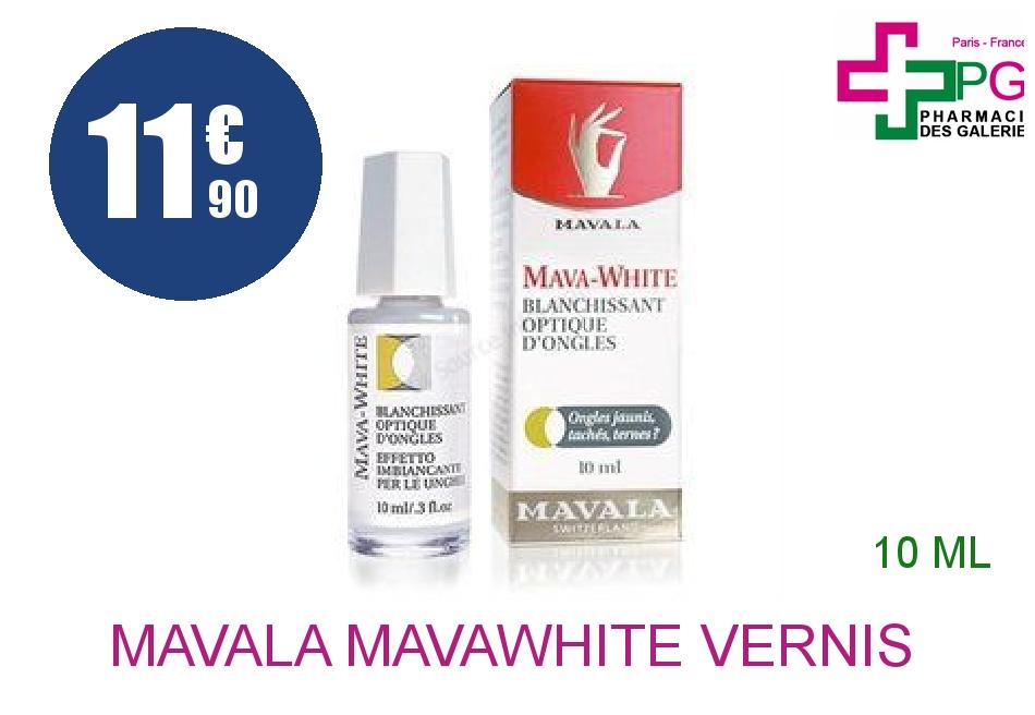 Achetez MAVALA MAVAWHITE Vernis à ongles blanchissant Flacon de 10ml