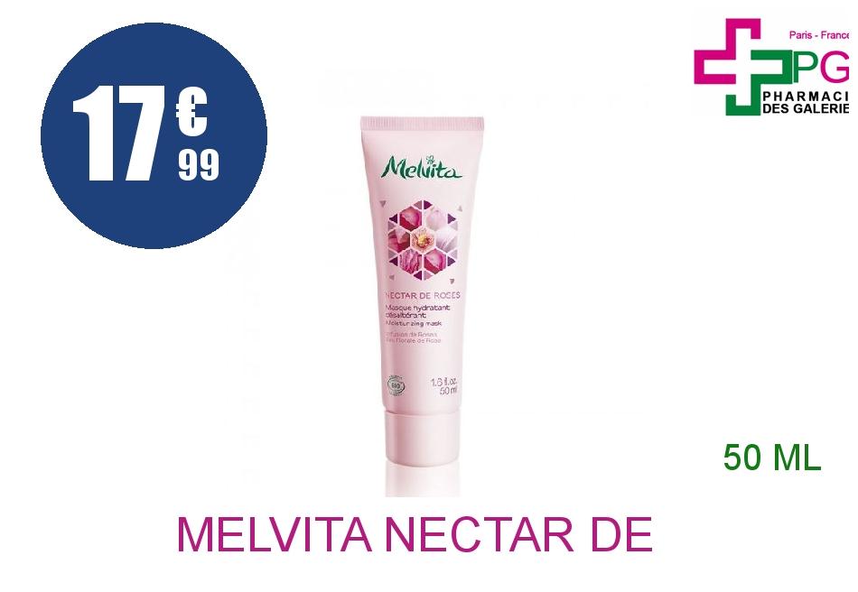 MELVITA NECTAR DE ROSES Masque hydratant Tube Airless de 50ml