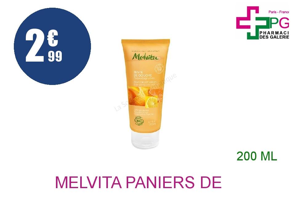 Achetez MELVITA PANIERS DE SAISON Gel zeste de douche Tube de 200ml
