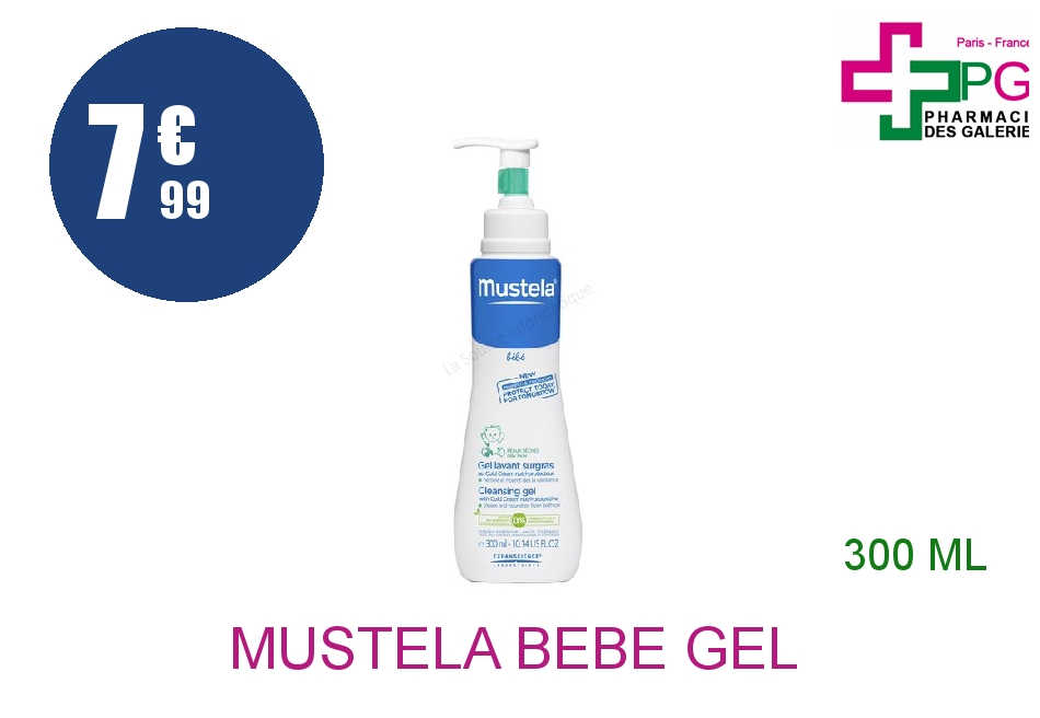 Achetez MUSTELA BEBE Gel lavant surgras Cold cream Tube de 300ml