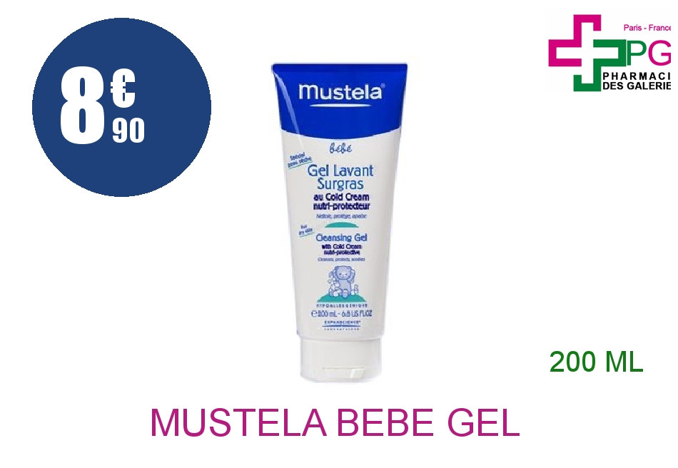 Achetez MUSTELA BEBE Gel lavant surgras Cold cream Tube de 200ml