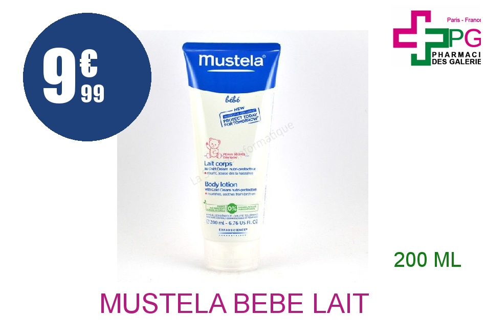 Achetez MUSTELA BEBE Lait corps cold cream nutri-protecteur Tube de 200ml