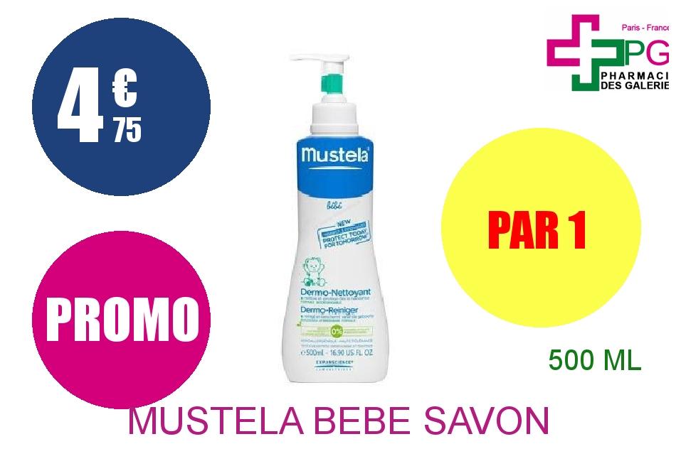 Achetez MUSTELA BEBE Savon Liquide dermo nettoyant Flacon Pompe de 500ml