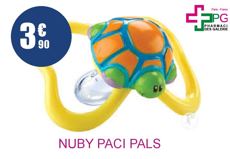 Achetez NUBY PACI PALS SILICONE OVALE 18 Mois