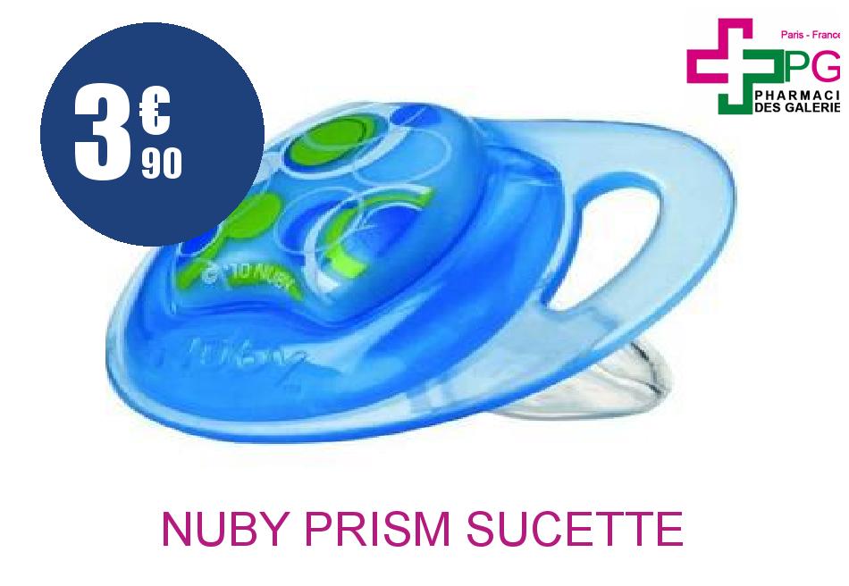 Achetez NUBY PRISM Sucette silicone orthodontique 6-18 Mois