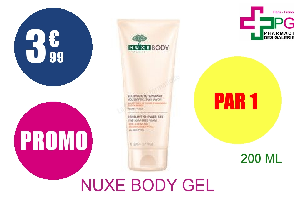 NUXE BODY Gel douche fondant Tube de 200ml