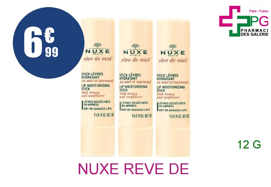 Achetez NUXE REVE DE MIEL Stick lèvres hydratant 3x4g