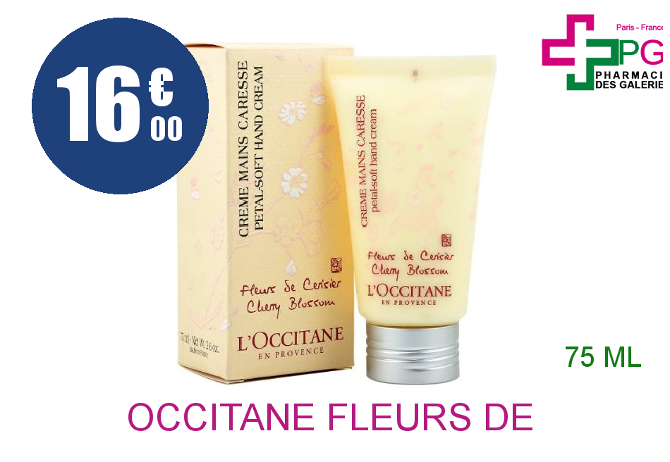 L'OCCITANE FLEURS DE CERISIER Crème mains Tube de 75ml