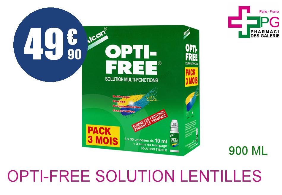 Achetez OPTI-FREE Solution Lentilles 90 Unidose de 10ml