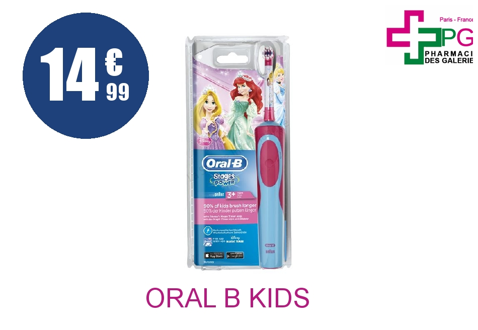 ORAL B KIDS STAGES POWER Brosse dents électrique Princesse