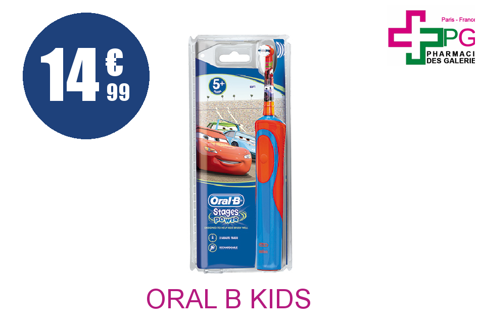 ORAL B KIDS STAGES POWER Brosse dents électrique Cars