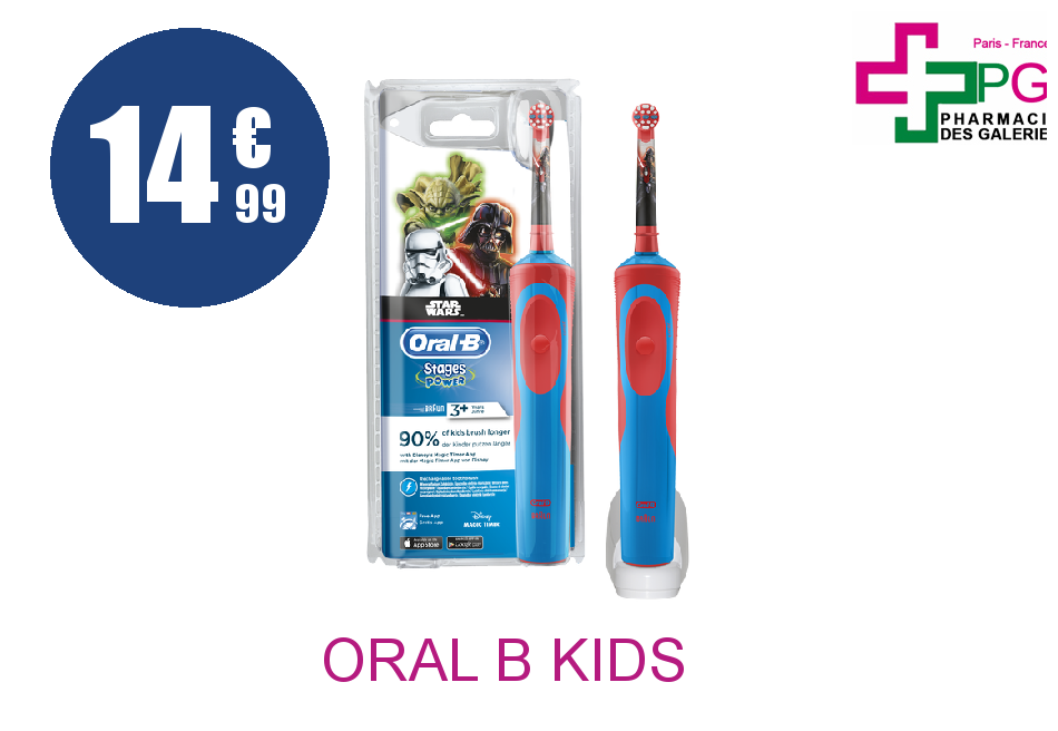 ORAL B KIDS STAGES POWER Brosse dents électrique star wars