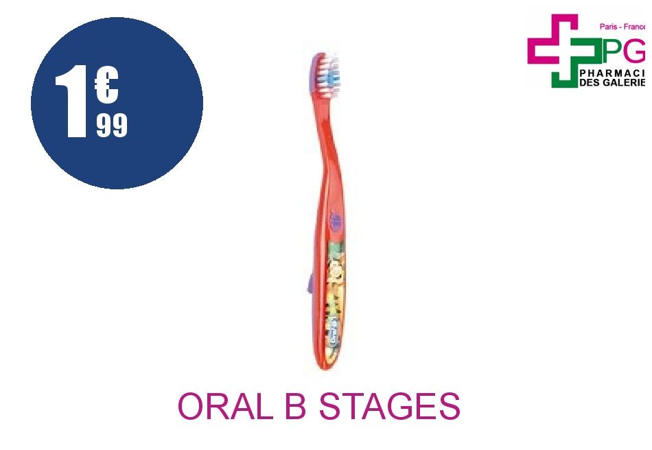 Achetez ORAL B STAGES 2 Brosse dents enfant 2/4 Ans Boîte de 1