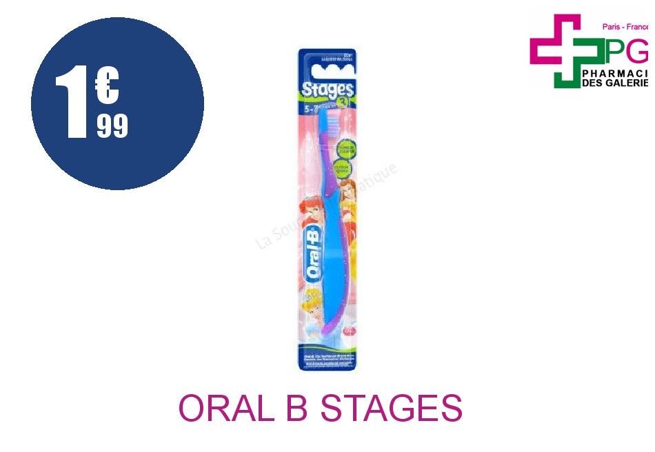 Achetez ORAL B STAGES 3 Brosse dents enfant 5/7 Ans Boîte de 1