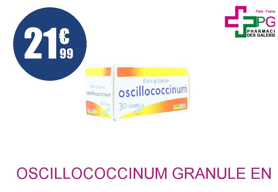 OSCILLOCOCCINUM Granulé en récipient unidose 30 Doses de 1g