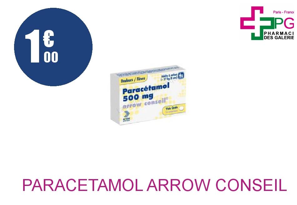 PARACETAMOL ARROW CONSEIL 500 mg Comprimé Plaquette de 16