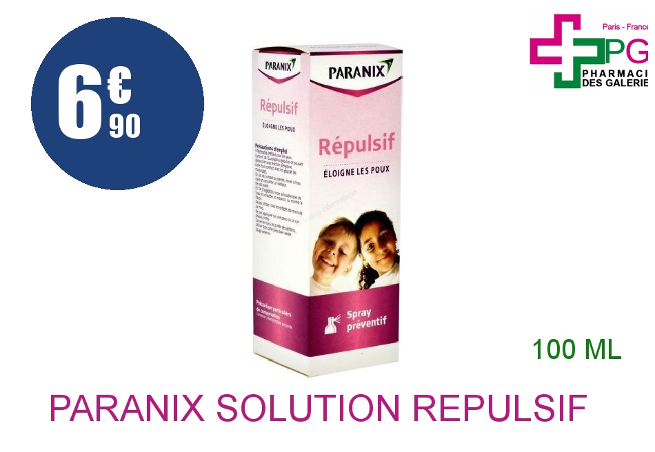 Achetez PARANIX Solution répulsif Spray de 100ml