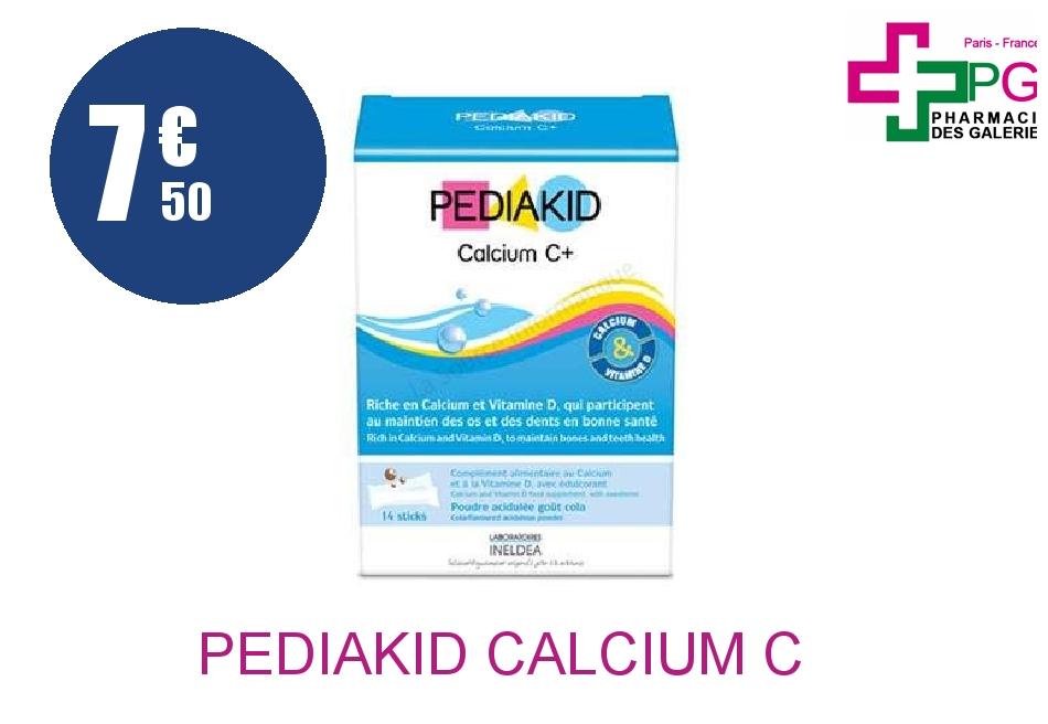 Achetez PEDIAKID CALCIUM C+ Poudre Orale cola 14 Sticks
