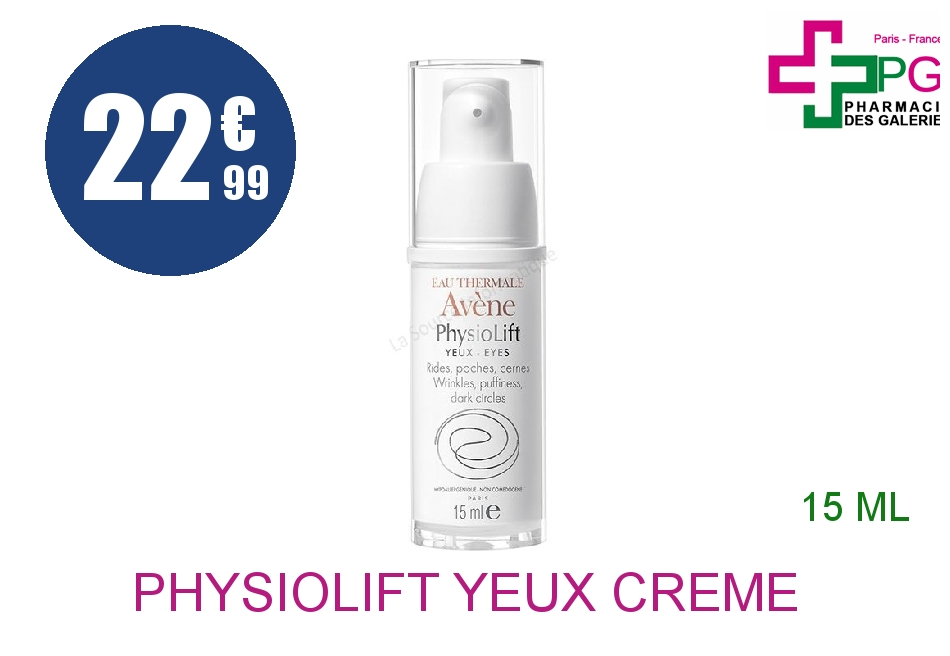 PHYSIOLIFT YEUX Crème rides Poches cernes Flacon Airless de 15ml