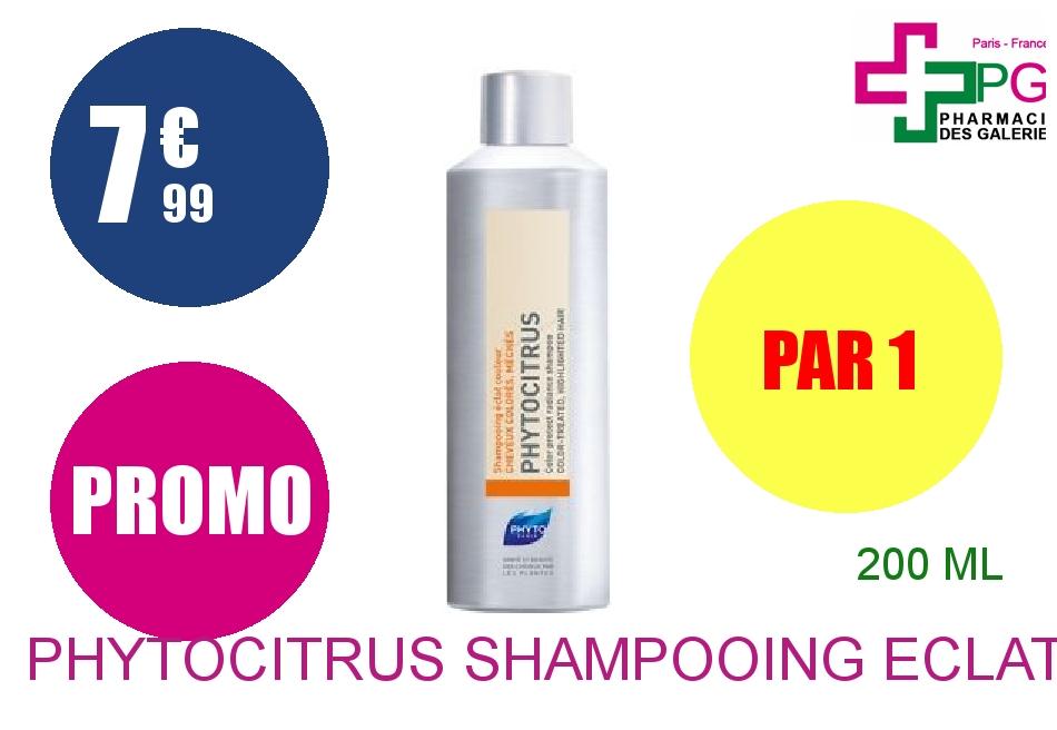 Achetez PHYTOCITRUS Shampooing éclat douceur cheveux colorés Flacon de 200ml