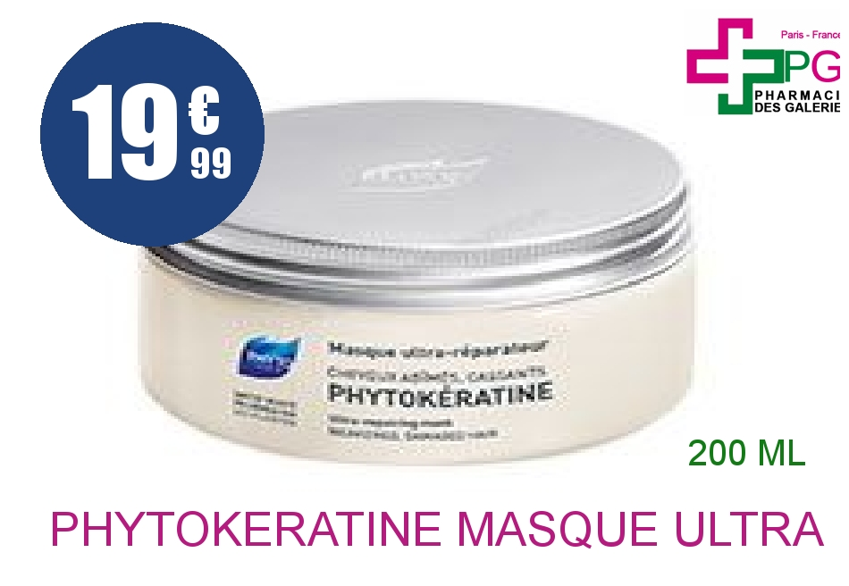 Achetez PHYTOKERATINE Masque ultra réparateur Pot de 200ml