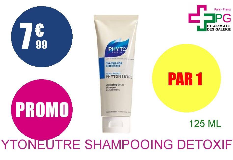 Achetez PHYTONEUTRE Shampooing détoxifiant tous cheveux Tube de 125ml