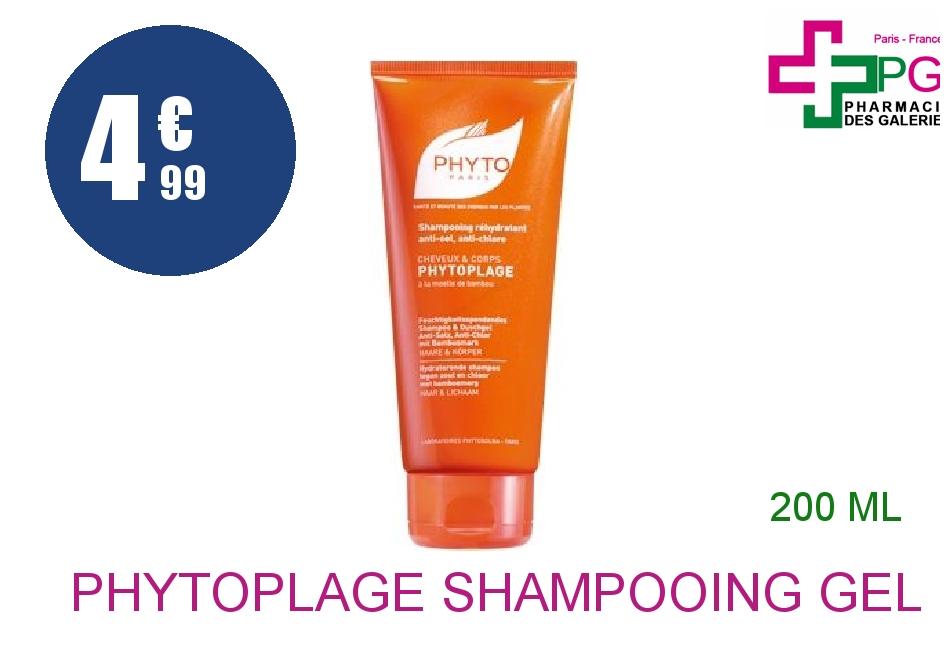 PHYTOPLAGE Shampooing gel douche réhydratant Tube de 200ml