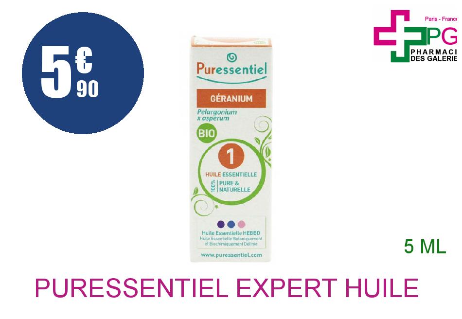 Achetez PURESSENTIEL EXPERT Huile essentielle bio Géranium Flacon de 5ml