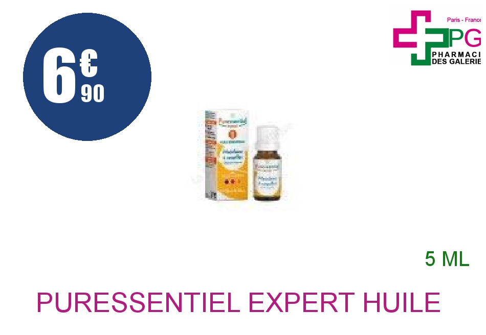 Achetez PURESSENTIEL EXPERT Huile essentielle bio Marjolaine coquille Flacon de 5ml