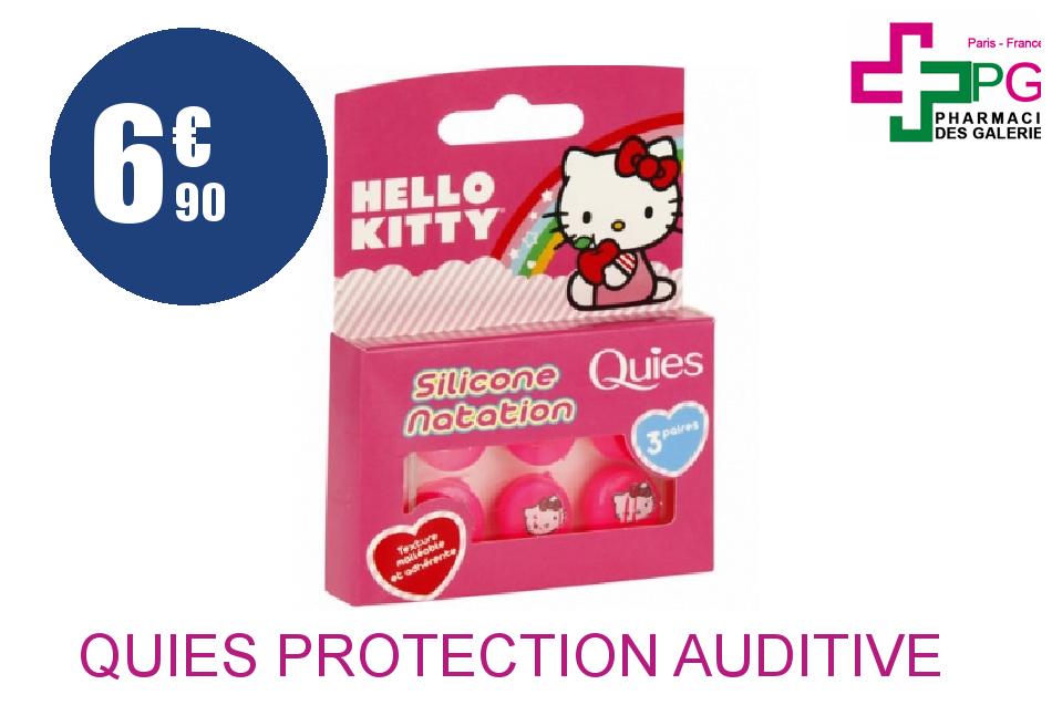 Achetez QUIES Protection auditive silicone spécial natation enfant Hello Kitty Boîte de 3 Paires