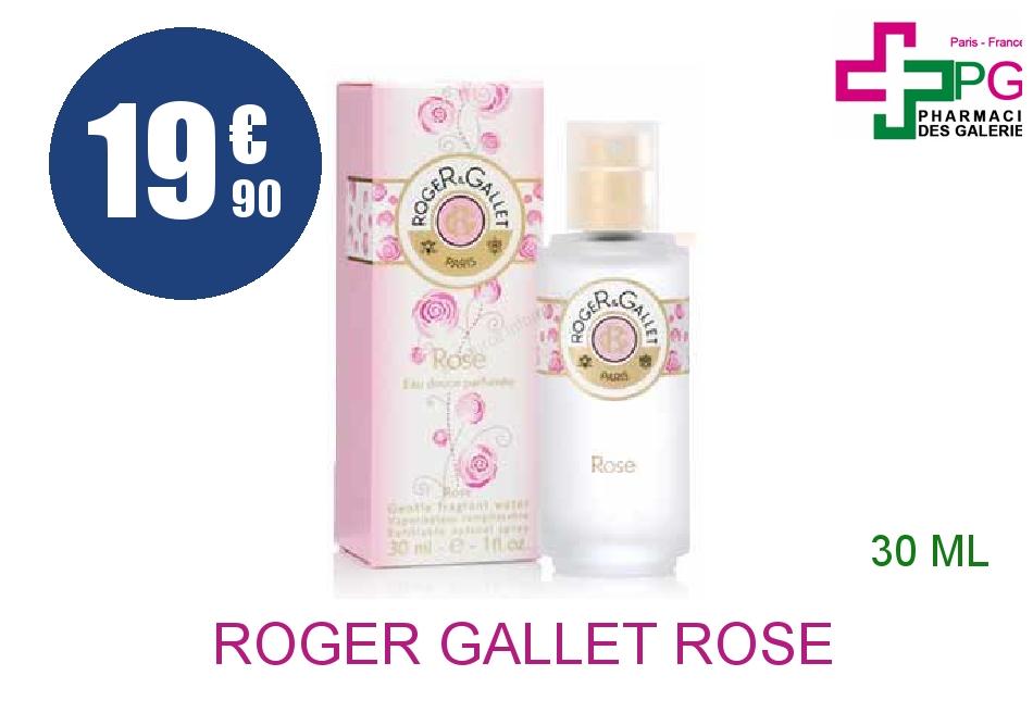 Achetez ROGER GALLET ROSE Eau douce Vaporisateur de 30ml