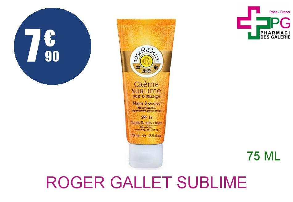 Achetez ROGER GALLET SUBLIME BOIS D'ORANGE Crème mains Tube de 75ml
