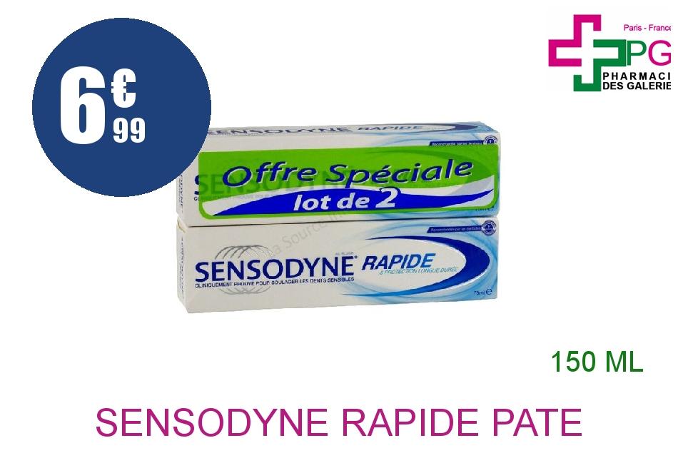 Achetez SENSODYNE RAPIDE Pâte dentifrice dents sensibles 2 Tube de 75ml