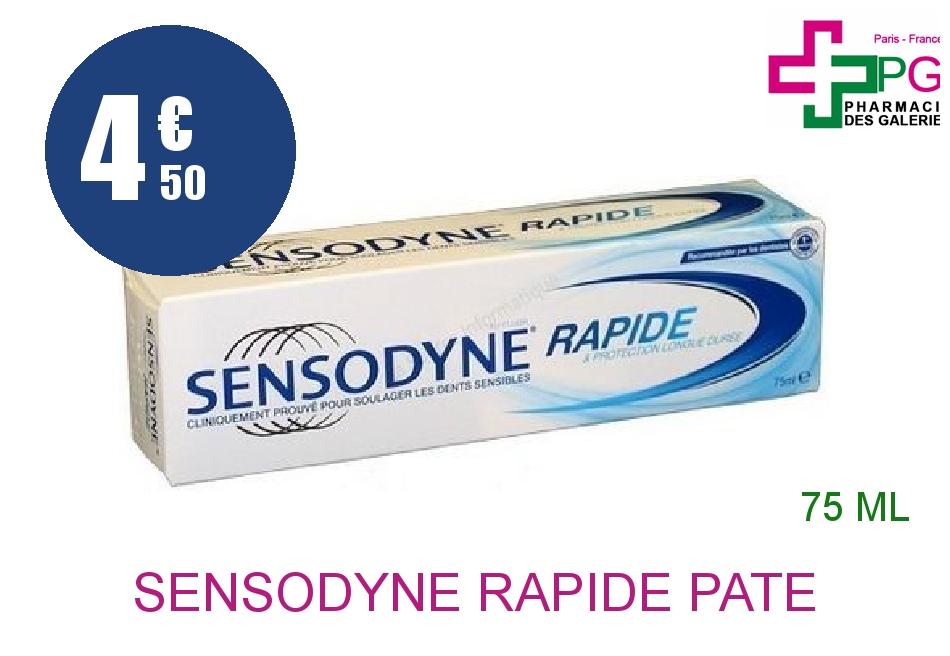 Achetez SENSODYNE RAPIDE Pâte dentifrice dents sensibles Tube de 75ml