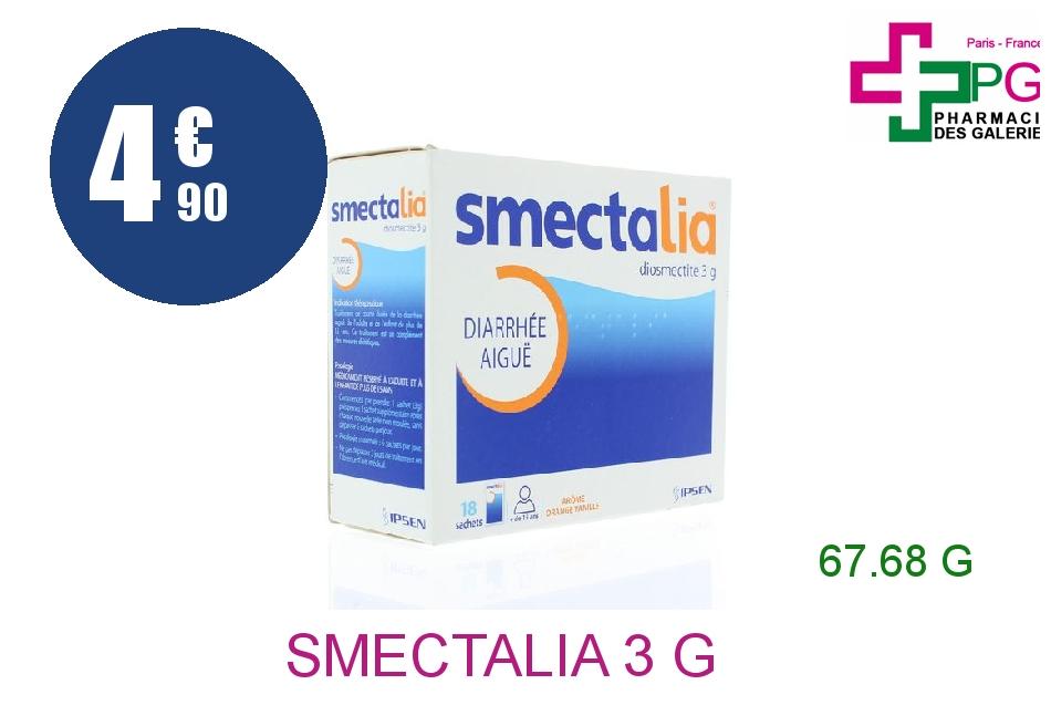 Achetez SMECTALIA 3 g Poudre Suspension Buvable en sachet 18 Sachet de 3,76g