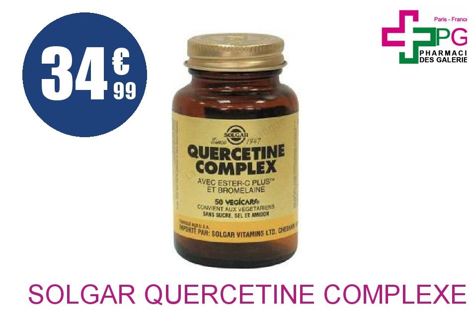 SOLGAR Quercétine Complexe Gélule Pot de 50