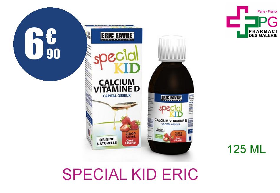 Achetez SPECIAL KID ERIC FAVRE Calcium Vitamine D Sirop Flacon de 125ml