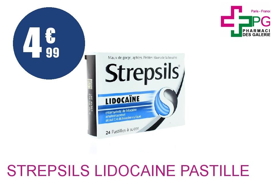 Achetez STREPSILS lidocaïne Pastille Plaquette de 24