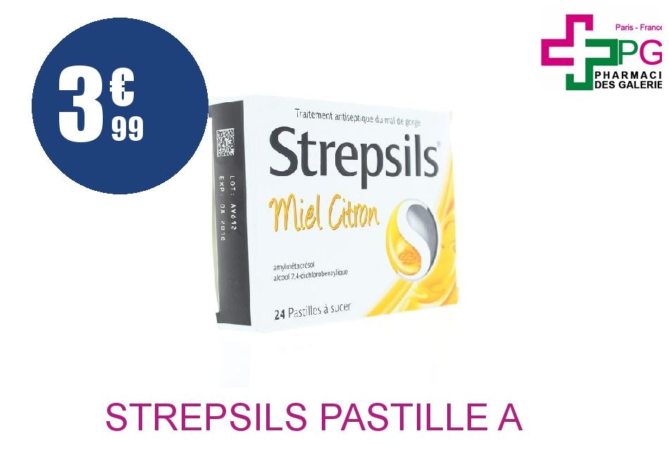 Achetez STREPSILS Pastille à sucer miel citron Plaquette de 24