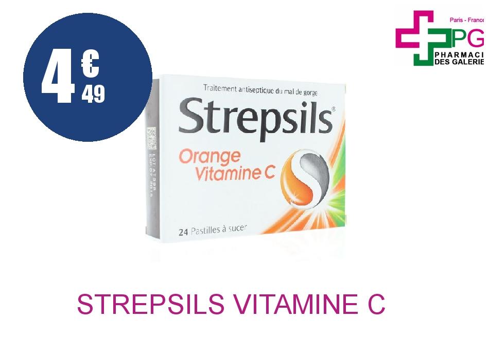 Achetez STREPSILS Vitamine C Pastille orange Plaquette de 24
