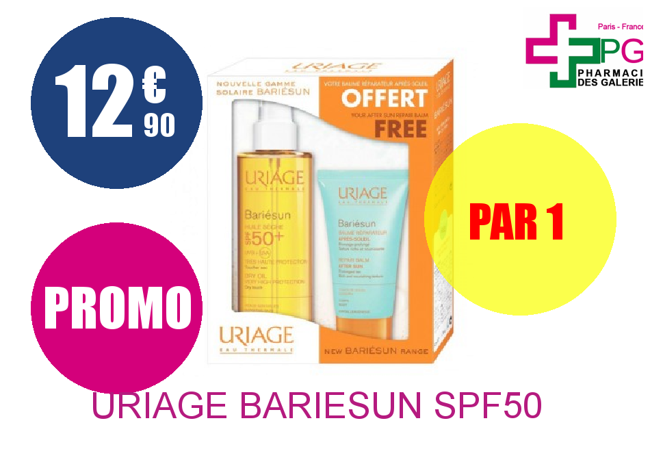 Achetez URIAGE BARIESUN SPF50 Huile+ Baume AP SOLEIL