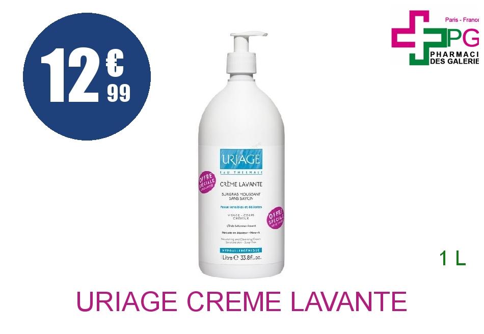 Achetez URIAGE Crème lavante sans Savon visage corps Flacon Pompe de 1l