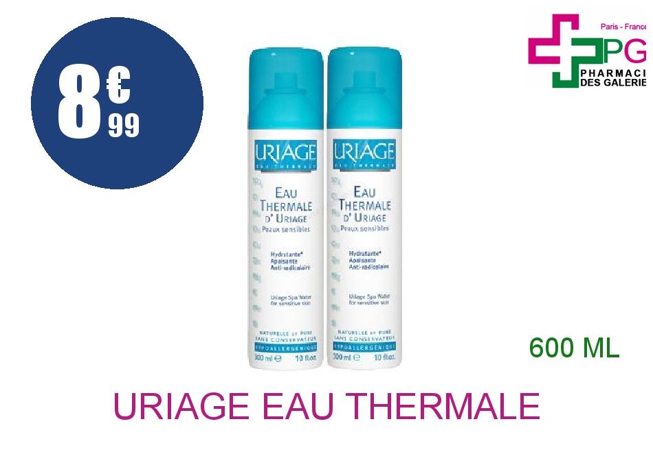 Achetez URIAGE EAU THERMALE Eau thermale peau sensible Brumisateur de 2x300ml