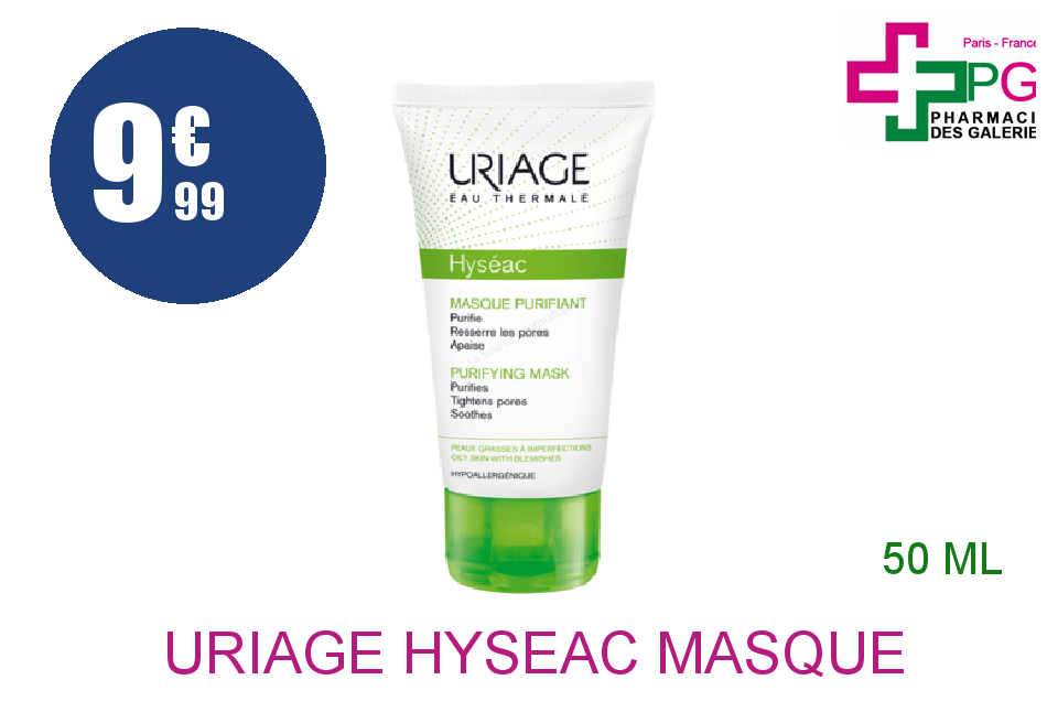 URIAGE HYSEAC Masque purifiant Tube de 50ml