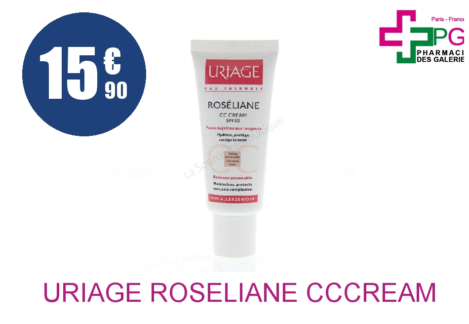 Achetez URIAGE ROSELIANE CCCREAM SPF30 TBE 40ML