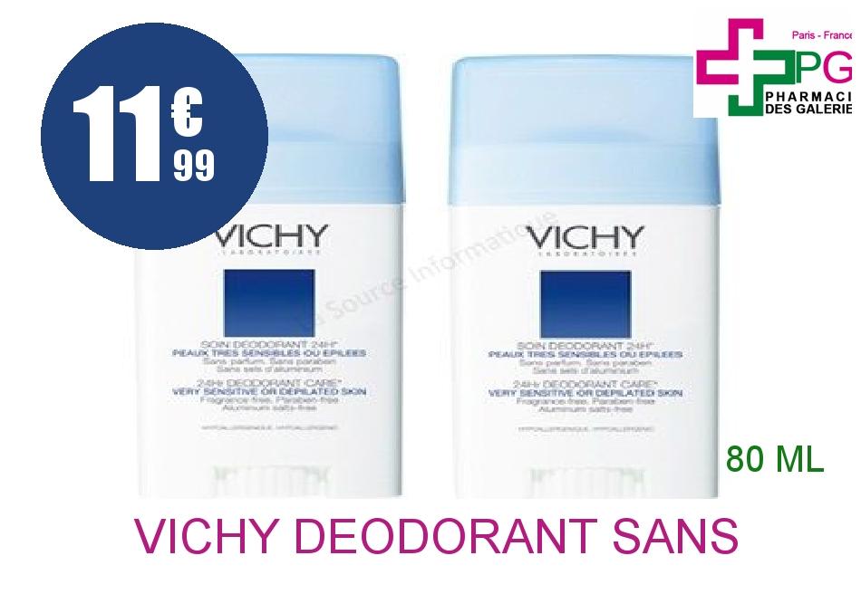 Achetez VICHY Déodorant sans sels d'aluminium 2 Sticks de 40ml