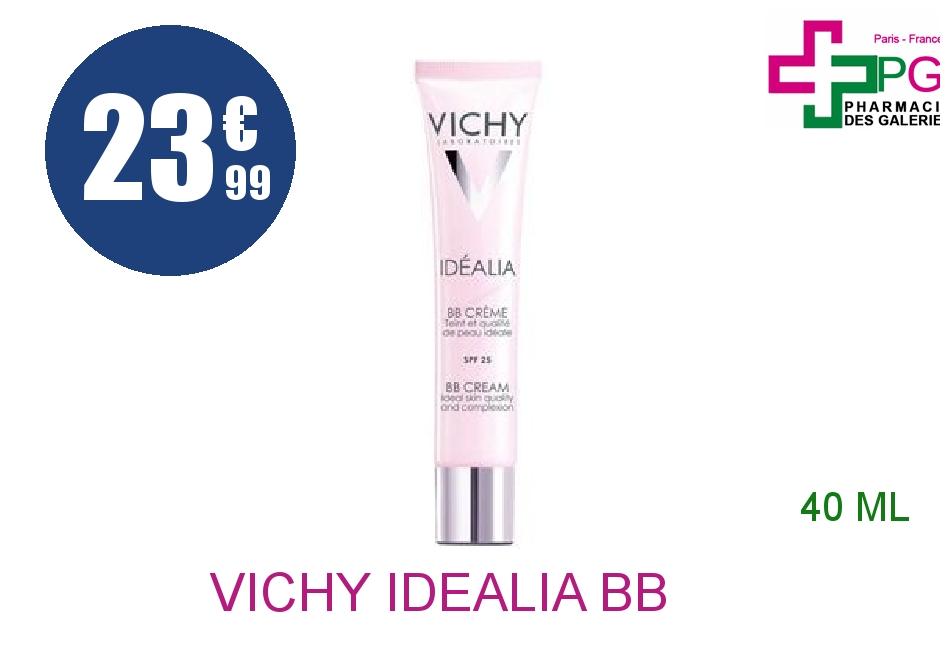 Achetez VICHY IDEALIA BB Crème soin embelliseur de teint claire Tube de 40ml