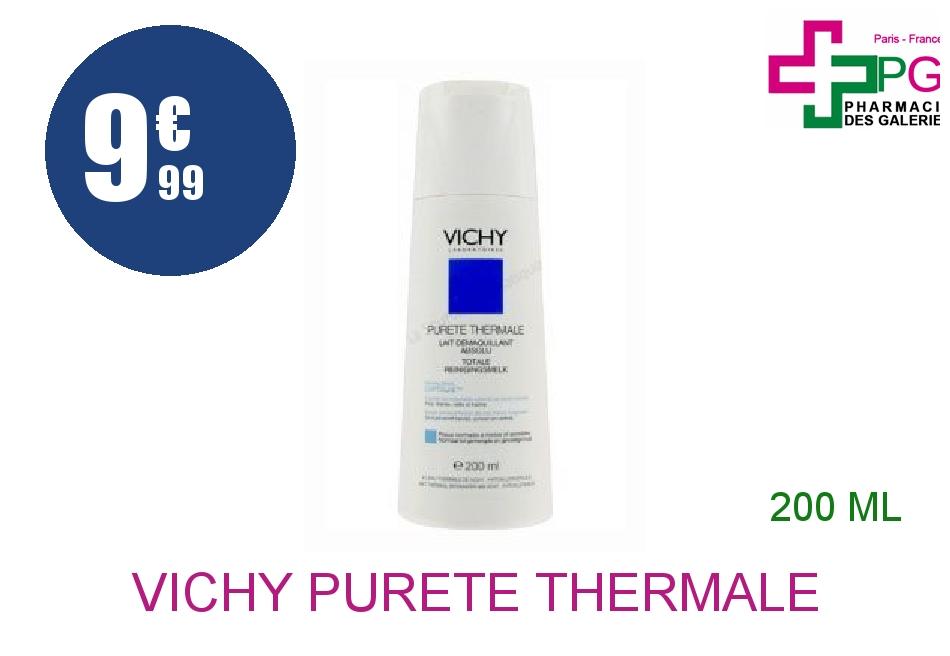 Achetez VICHY PURETE THERMALE Lait démaquillant absolu peau normale ou mixte Flacon de 200ml
