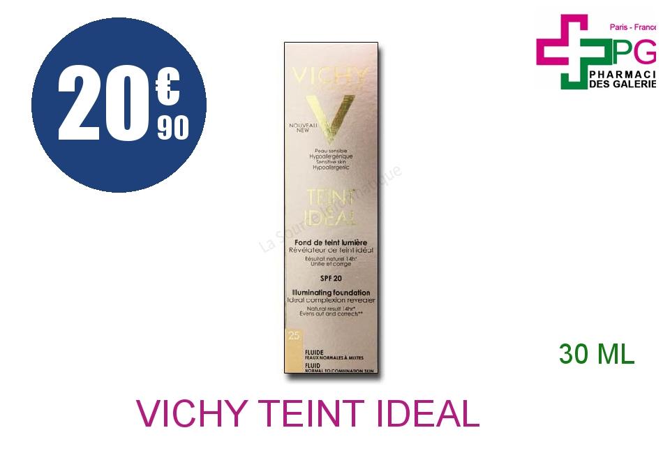 Achetez VICHY TEINT IDEAL Fluide n°25 Flacon Pompe de 30ml